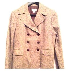 Ann Taylor Loft tweed double breasted jacket.